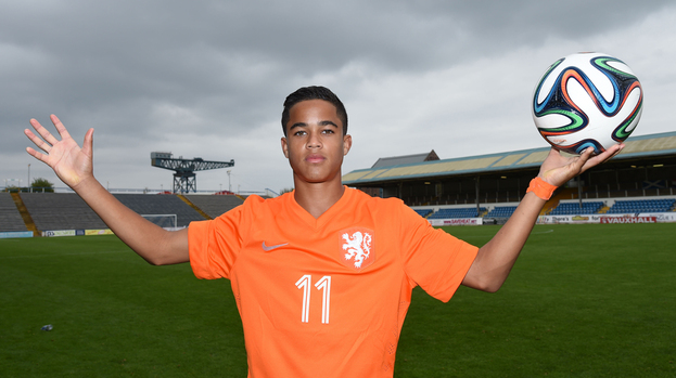 308478-holland-u16s-goalscorer-justin-kluivert-son-of-patrick-kluivert-poses-for-a-pic-after-the-game