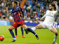 Spanish League match between Real Madrid and Barcelona FC Barca In this picture Isco and Neymar