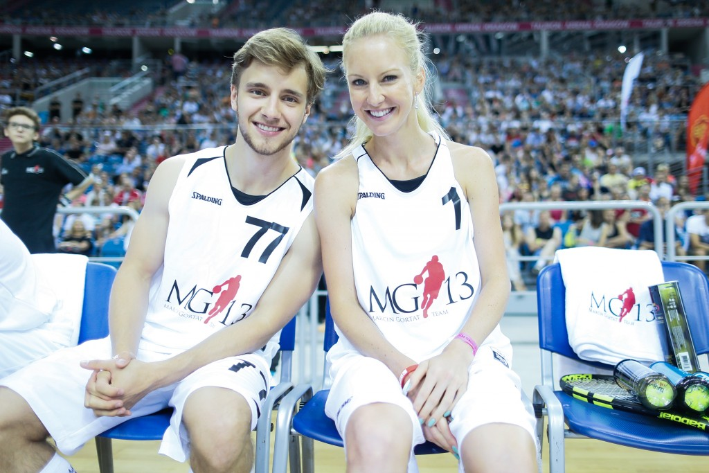 KRAKOW 26.06.2016 MG 13 MARCIN GORTAT CAMP DZIECI KOSZYKOWKA FINAL MECZ MARCIN GORTAT CAMP FOR KIDS BASKETBALL GAME NZ maciej musial , urszula radwanska FOT. WOJCIECH FIGURSKI / 400mm.pl