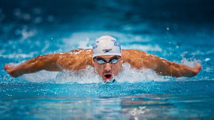 Michael Phelps of North Baltimore Aquatic Club swims the 200 butterfly prelims at the 2011 Charlotte Ultraswim