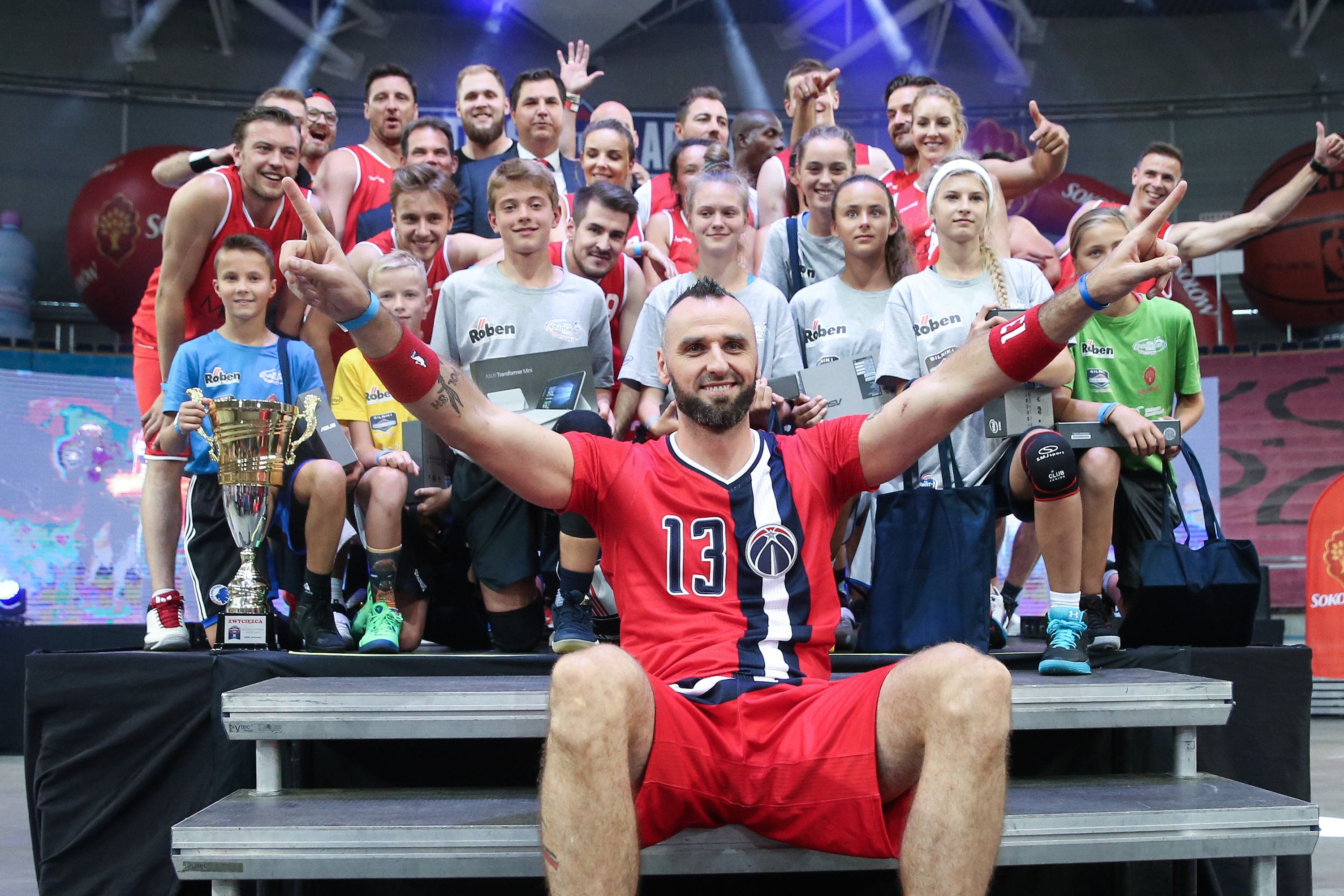 LODZ 30.07.2017 MARCIN GORTAT CAMP MECZ KOSZYKOWKA: GORTAT TEAM - WOJSKO POLSKIE --- MG13 CAMP BASKETBALL MATCH: GORTAT TEAM - POLISH ARMY marcin gortat finalist skills challenge FOT. PIOTR KUCZA/ 400mm.pl