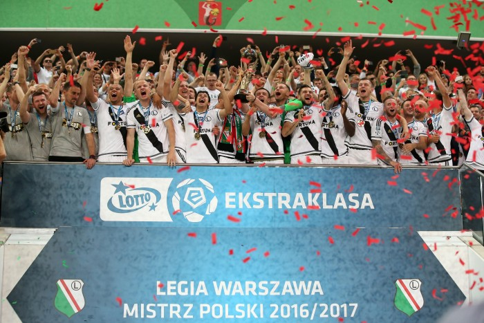 WARSZAWA 04.06.2017 MECZ 37. KOLEJKA LOTTO EKSTRAKLASA SEZON 2016/17 --- POLISH FOOTBALL TOP LEAGUE MATCH IN WARSAW: LEGIA WARSZAWA - LECHIA GDANSK 0:0 PILKARZE LEGII FOT. PIOTR KUCZA/ 400mm.pl