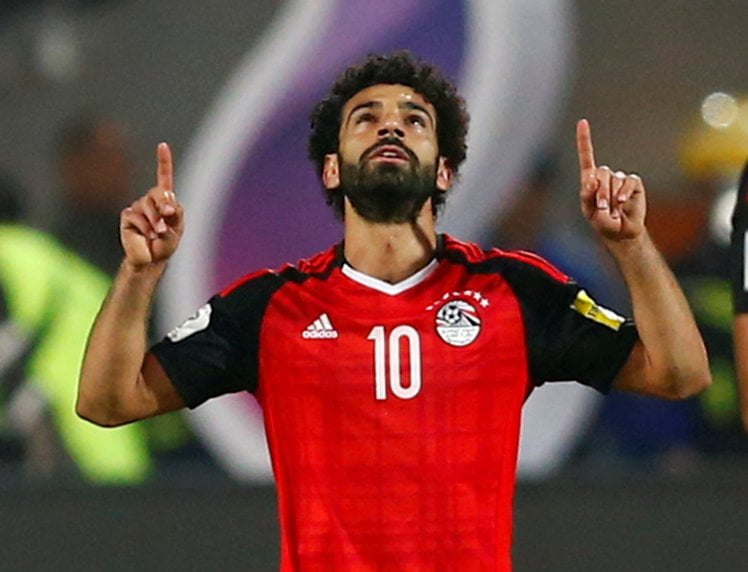 Soccer Football - 2018 World Cup Qualifications - Africa - Egypt vs Congo - Borg El Arab Stadium, Alexandria, Egypt - October 8, 2017 Egypt's Mohamed Salah celebrates scoring a goal REUTERS/Amr Abdallah Dalsh
