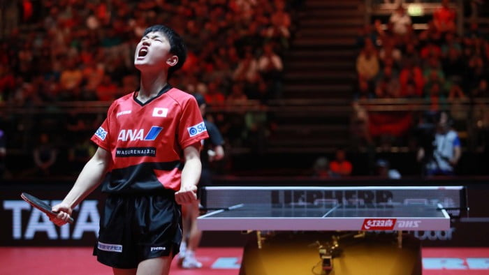 Men's Singles 1/4 Final world table tennis championships in Dusseldorf. 29 May 6 june 2017.