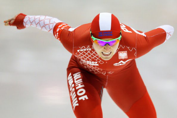 HEERENVEEN, NETHERLANDS - MARCH 23: Katarzyna Bachleda-Curus of Poland competes in the 1500m Ladies Race during day two of the Essent ISU World Allround Speed Skating Championships at the Thialf Stadium on March 23, 2014 in Heerenveen, Netherlands. (Photo by Dean Mouhtaropoulos/Getty Images)
