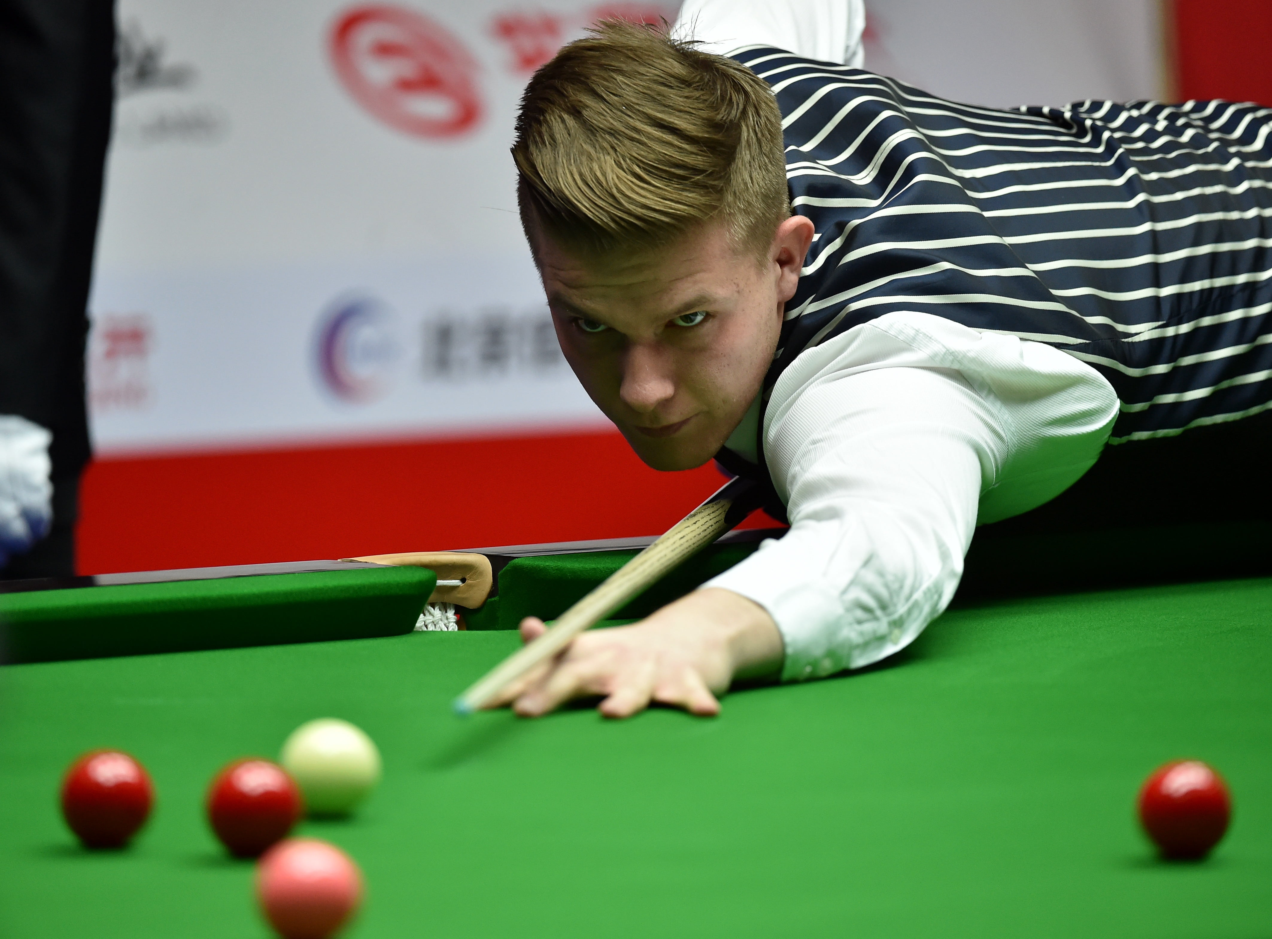 BEIJING, March 27, 2017 Adam Stefanow of Poland competes during the heldover match of 2017 World Snooker China Open Tournament against Mark Selby of England in Beijing, capital of China, March 27, 2017. Adam Stefanow lost by 3-5. (Credit Image: © Zhang Chenlin/Xinhua via ZUMA Wire) FOT. ZUMA/NEWSPIX.PL POLAND ONLY !!! --- Newspix.pl *** Local Caption *** www.newspix.pl mail us: info@newspix.pl call us: 0048 022 23 22 222 --- Polish Picture Agency by Ringier Axel Springer Poland