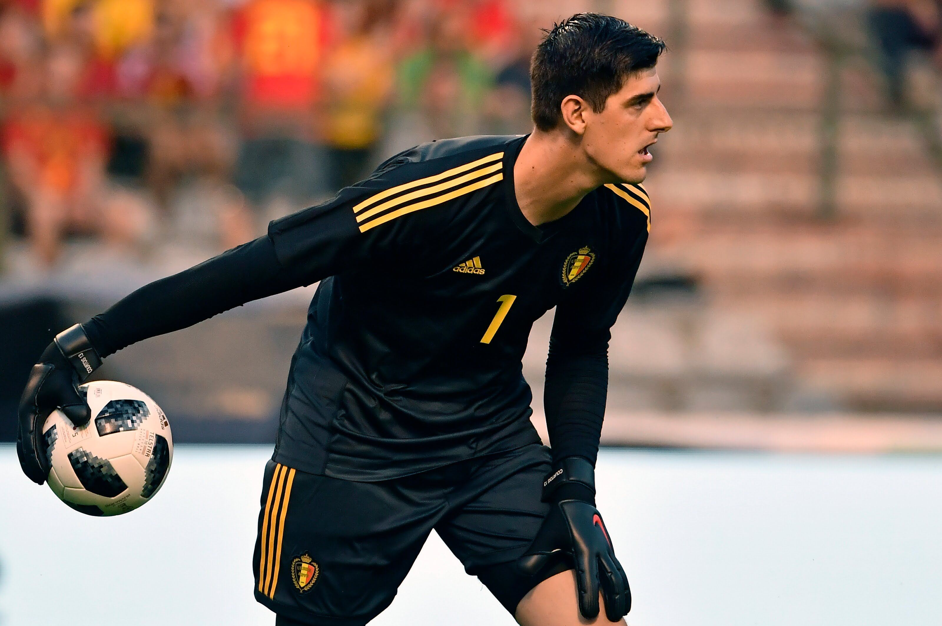 June 6, 2018 - Brussels, BELGIUM - Belgium's goalkeeper Thibaut Courtois pictured in action during a friendly game between Belgium national team, The Red Devils and Egyptian national soccer team, Wednesday 06 June 2018, in Brussels. Both teams prepare the upcoming FIFA World Cup 2018 in Russia...BELGA PHOTO DIRK WAEM (Credit Image: © Dirk Waem/Belga via ZUMA Press) PILKA NOZNA MECZ TOWARZYSKI BELGIA - EGIPT FOT. ZUMA/NEWSPIX.PL POLAND ONLY! --- Newspix.pl *** Local Caption *** www.newspix.pl mail us: info@newspix.pl call us: 0048 022 23 22 222 --- Polish Picture Agency by Ringier Axel Springer Poland