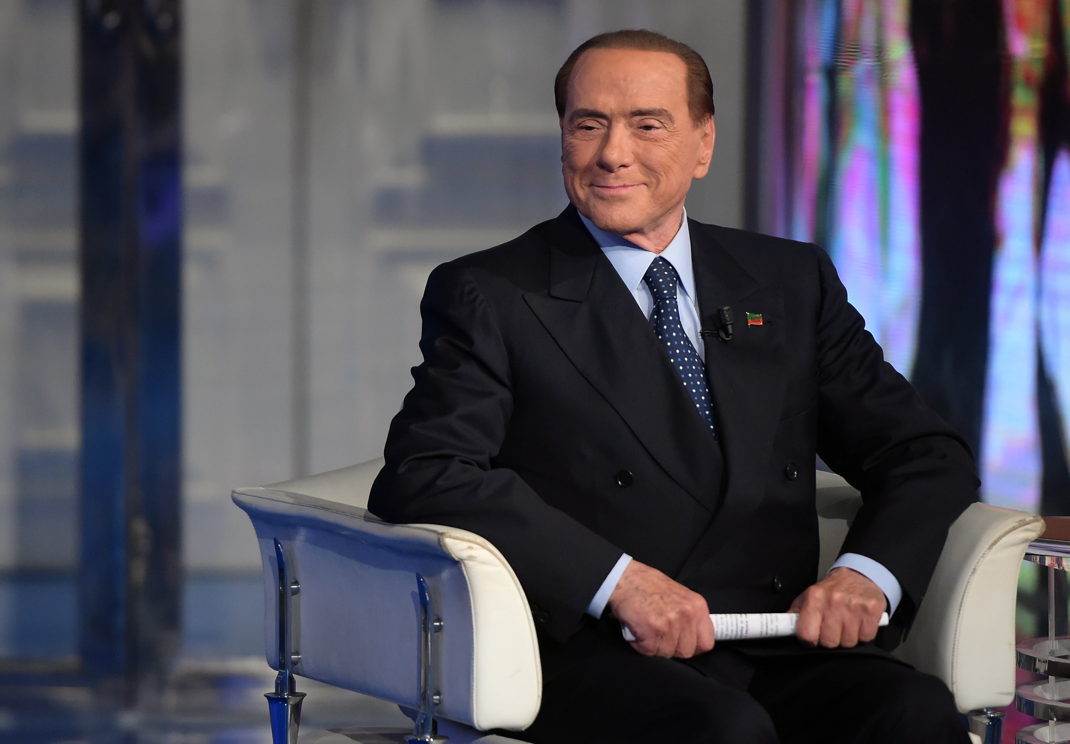 Former Italian Prime Minister Silvio Berlusconi attends the political TV show Porta A Porta at RAI's broadcast studios in Rome, Italy on November 16, 2017. At age 81, Berlusconi hopes to make a political comeback as leader of a center-right coalition in Italy's election next year. Photo by Eric Vandeville/ABACAPRESS.COM FOT. ABACA/NEWSPIX.PL POLAND ONLY! --- Newspix.pl *** Local Caption *** www.newspix.pl mail us: info@newspix.pl call us: 0048 022 23 22 222 --- Polish Picture Agency by Ringier Axel Springer Poland