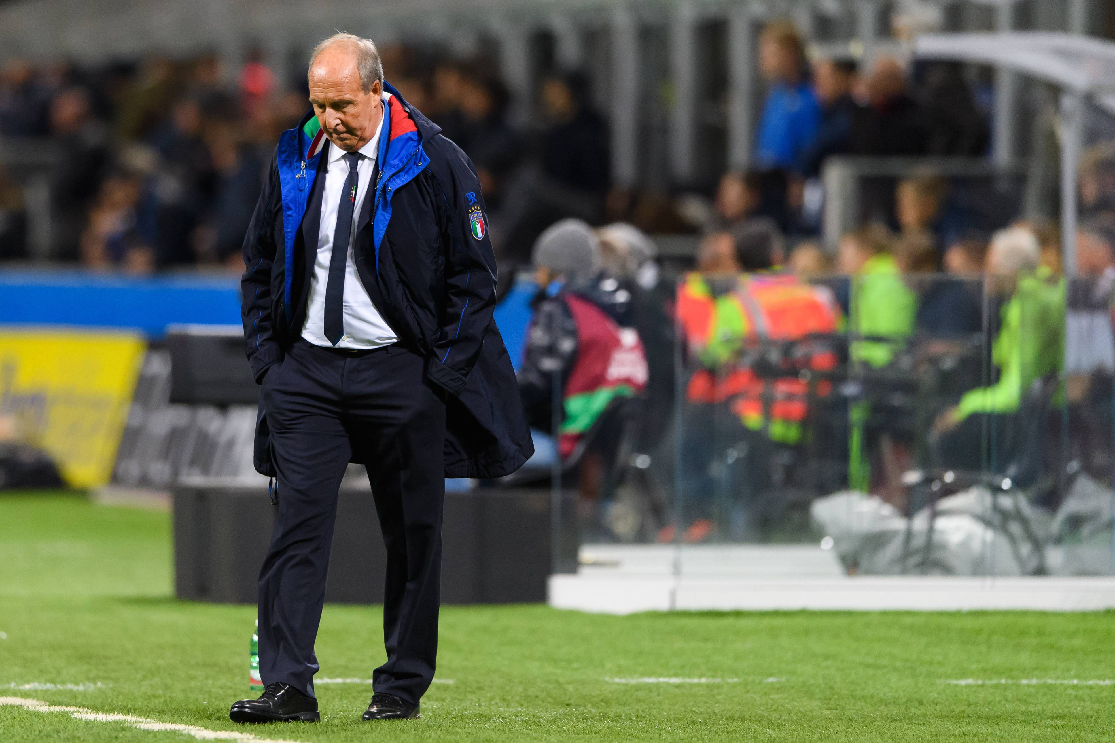 November 13, 2017 - Milano, ITALIEN - 171113 Italiens f?ɬ?rbundskapten Gian Piero Ventura under fotbollsmatchen i VM-kvalets play-off mellan Italien och Sverige den 13 november 2017 i Milano (Credit Image: © Joel Marklund/Bildbyran via ZUMA Wire) PILKA NOZNA ELIMINACJE MISTRZOSTW SWIATA BARAZE BARAZ WLOCHY - SZWECJA FOT. ZUMA/NEWSPIX.PL POLAND ONLY! --- Newspix.pl *** Local Caption *** www.newspix.pl mail us: info@newspix.pl call us: 0048 022 23 22 222 --- Polish Picture Agency by Ringier Axel Springer Poland