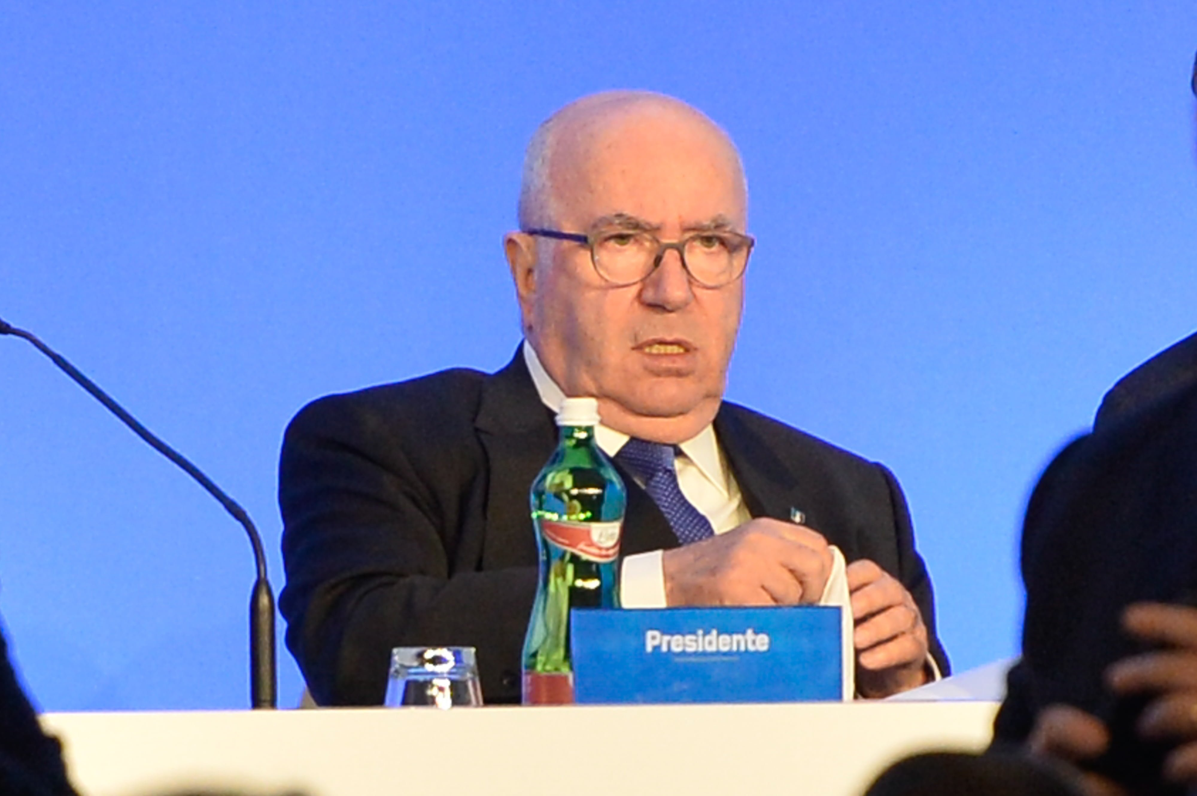 January 29, 2018 - Rome, Italy - Carlo Tavecchio attends the Italian Football Federation (FIGC) new president elections on January 29, 2018 in Rome, Italy (Credit Image: © Silvia Lore/NurPhoto via ZUMA Press) FOT. ZUMAPRESS.com / NEWSPIX.PL POLAND ONLY !!! --- Newspix.pl *** Local Caption *** www.newspix.pl mail us: info@newspix.pl call us: 0048 022 23 22 222 --- Polish Picture Agency by Ringier Axel Springer Poland