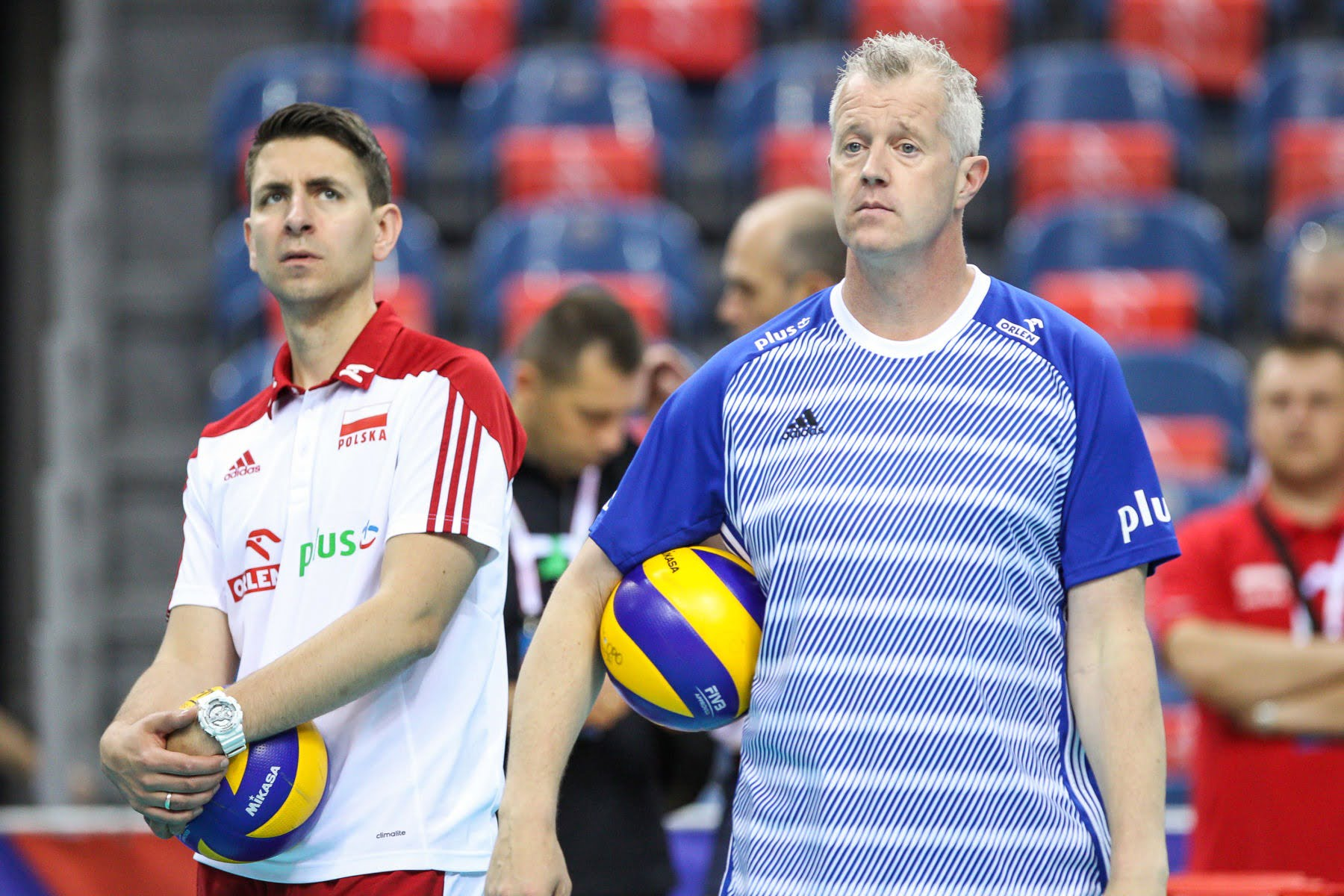 26.05.2018 KRAKOW SIATKOWKA MEZCZYZN SIATKARSKA LIGA NARODOW MEZCZYZN 2018 FIVB VOLLEYBALL NATIONS LEAGUE 2018 MECZ POLSKA - ROSJA ( Poland - Russia ) N/Z VITAL HEYNEN - I TRENER ( HEAD COACH ) MICHAL MIESZKO GOGOL SYLWETKA FOT MACIEJ GOCLON / FOTONEWS / NEWSPIX.PL --- Newspix.pl *** Local Caption *** www.newspix.pl mail us: info@newspix.pl call us: 0048 022 23 22 222 --- Polish Picture Agency by Ringier Axel Springer Poland