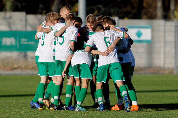 Gdansk, 31.10.2018 CLJ U-15 PILKA NOZNA LECHIA GDANSK CLJ Centralna Liga Juniorow U-15 MECZ Lechia Gdansk - Arka Gdynia SI --- CLJ POLISH YOUTH LEAGUE FOOTBALL LECHIA GDANSK CLJ U-15 Under 15 GAME Lechia Gdansk - Arka Gdynia SI --- NZ team druzyna , FOT. GRZEGORZ RADTKE / 058sport.pl