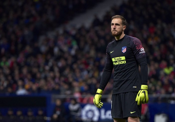 November 24, 2018 - Madrid, U.S. - MADRID, - NOVEMBER 24: Jan Oblak, goalkeeper of Atletico de Madrid looks during to the La Liga game between Atletico de Madrid and FC Barcelona on November 24, 2018, at Wanda Metropolitano Stadium in Madrid, Spain (Photo by Carlos Sanchez Martinez/Icon Sportswire) (Credit Image: © Carlos Sanchez Martinez/Icon SMI via ZUMA Press) FOT. ZUMA / NEWSPIX.PL POLAND ONLY !!! --- Newspix.pl *** Local Caption *** www.newspix.pl mail us: info@newspix.pl call us: 0048 022 23 22 222 --- Polish Picture Agency by Ringier Axel Springer Poland