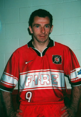 PODBROZNY JERZY - Chicago FIRE. Pilka nozna. Fot. Ludwik M. Bednarz, 1998 r. --- Newspix.pl *** Local Caption *** www.newspix.pl mail us: info@newspix.pl call us: 0048 022 23 22 222 --- Polish Picture Agency by Axel Springer Poland