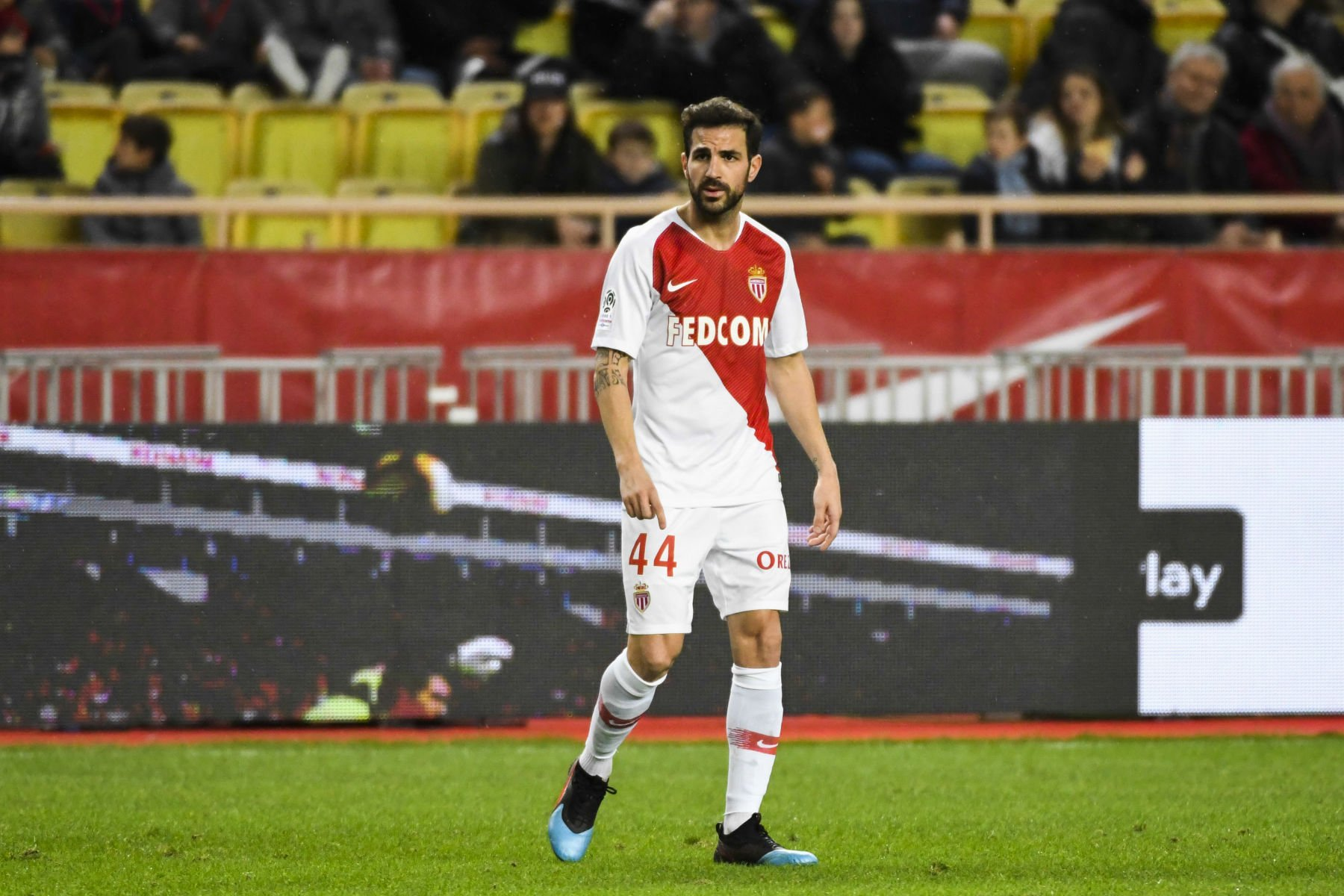 Cesc Fabregas of Monaco during the Ligue 1 match between Monaco and Strasbourg at Stade Louis II on January 19, 2019 in Monaco, Monaco. (Photo by Pascal Della Zuana/Icon Sport) FOT. ICON SPORT / NEWSPIX.PL POLAND ONLY !!! --- Newspix.pl *** Local Caption *** www.newspix.pl mail us: info@newspix.pl call us: 0048 022 23 22 222 --- Polish Picture Agency by Ringier Axel Springer Poland