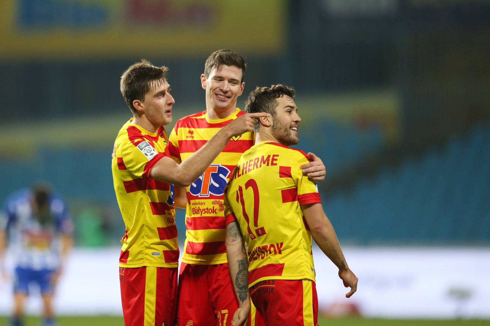 PLOCK 04.11.2017 MECZ 15. KOLEJKA LOTTO EKSTRAKLASA SEZON 2017/18 --- POLISH FOOTBALL TOP LEAGUE MATCH: WISLA PLOCK - JAGIELLONIA BIALYSTOK 1:2 TARAS ROMANCZUK IVAN RUNJE GUILHERME SITYA FOT. PIOTR KUCZA/ 400mm.pl