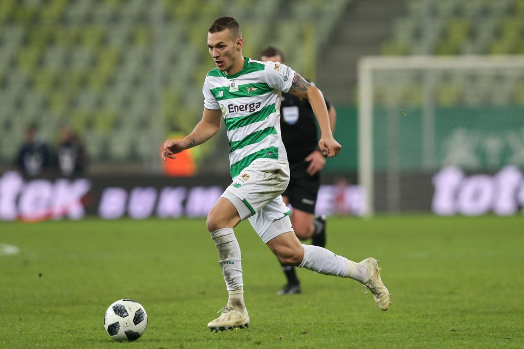 Gdansk, 25.11.2018 EKSTRAKLASA PILKA NOZNA MECZ Lechia Gdansk - Jagiellonia Bialystok POLISH LEAGUE FOOTBALL GAME Lechia Gdansk - Jagiellonia Bialystok NZ lukas haraslin , FOT. WOJCIECH FIGURSKI / 400mm.pl