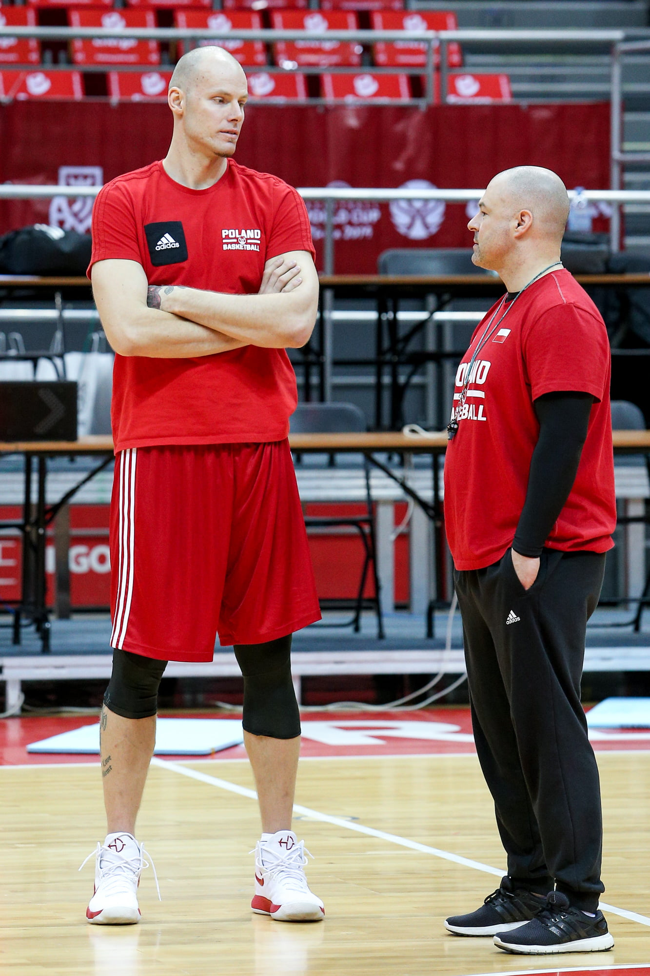 Gdansk, 24.02.2019 KOSZYKOWKA MEZCZYZN REPREZENTACJA POLSKI TRENING ELIMINACJE MISTRZOSTW SWIATA 2019 --- BASKETBALL FIBA POLAND NATIONAL TEAM WORLD CUP QUALIFIERS TRAINING --- NZ maciej lampe , trener mike taylor coach , FOT. GRZEGORZ RADTKE / 058sport.pl / NEWSPIX.PL --- Newspix.pl *** Local Caption *** www.newspix.pl mail us: info@newspix.pl call us: 0048 022 23 22 222 --- Polish Picture Agency by Ringier Axel Springer Poland