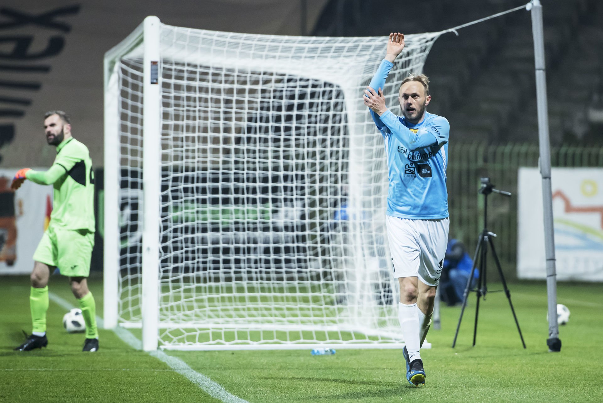 Olsztyn 17.11.2018 pilka nozna Fortuna I liga Stomil Olsztyn - Bytovia Bytow football Polish first league Stomil Olsztyn - Bytovia Bytow nz Grzegorz Lech fot. Kacper Kirklewski / 400mm.pl / NEWSPIX.PL --- Newspix.pl *** Local Caption *** www.newspix.pl mail us: info@newspix.pl call us: 0048 022 23 22 222 --- Polish Picture Agency by Ringier Axel Springer Poland