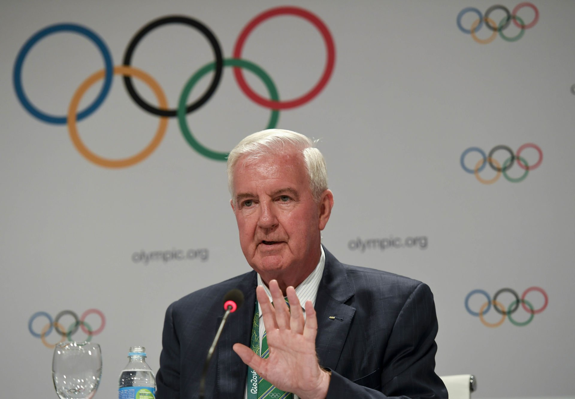 RIO DE JANEIRO, Aug. 2, 2016 Craig Reedie, president of WADA speaks at the press conference of 129th IOC session in Rio de Janeiro, Brazil on Aug. 2, 2016. The 129th session of the International Olympic Committee (IOC) officially got underway Monday night with an inspiring ceremony at the Cidade Das Artes in Rio de Janeiro. dh) (Credit Image: Liu Jie/Xinhua via ZUMA Wire) OLIMPIADA IGRZYSKA OLIMPIJSKIE FOT. ZUMA/NEWSPIX.PL POLAND ONLY! --- Newspix.pl *** Local Caption *** www.newspix.pl mail us: info@newspix.pl call us: 0048 022 23 22 222 --- Polish Picture Agency by Ringier Axel Springer Poland