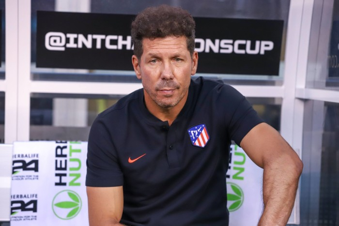 July 26, 2019, East Rutherford, New Jersey, United States: Diego Simeone coach of Atletico Madrid during match against Real Madrid valid match for the International Champions Cup at MetLife Stadium in East Rutherford in the United States on Friday night, 26. (Credit Image: © William Volcov/ZUMA Wire) PILKA NOZNA MECZ TOWARZYSKI FOT. ZUMA/NEWSPIX.PL POLAND ONLY! --- Newspix.pl *** Local Caption *** www.newspix.pl mail us: info@newspix.pl call us: 0048 022 23 22 222 --- Polish Picture Agency by Ringier Axel Springer Poland