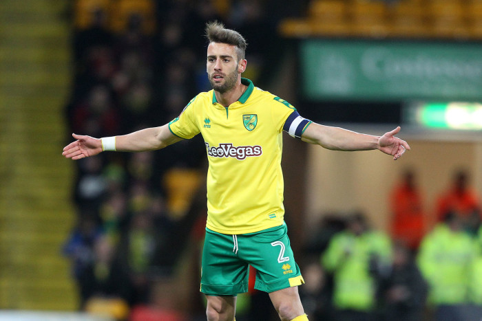 06.01.2018, Carrow Road, Norwich, ENG, FA Cup, Norwich City FC vs FC Chelsea, 3. Runde, im Bild Ivo Pinto of Norwich // Ivo Pinto of Norwich during the FA Cup 3rd round Match between Norwich City FC vs FC Chelsea at the Carrow Road in Norwich, Great Britain on 2018/01/06. EXPA Pictures © 2018, PhotoCredit: EXPA/ Focus Images/ Paul Chesterton *****ATTENTION - for AUT, GER, FRA, ITA, SUI, POL, CRO, SLO only***** PUCHAR ANGLII SEZON 2017/2018 PILKA NOZNA FOT. EXPA/NEWSPIX.PL POLAND ONLY !!! --- Newspix.pl *** Local Caption *** www.newspix.pl mail us: info@newspix.pl call us: 0048 022 23 22 222 --- Polish Picture Agency by Ringier Axel Springer Poland