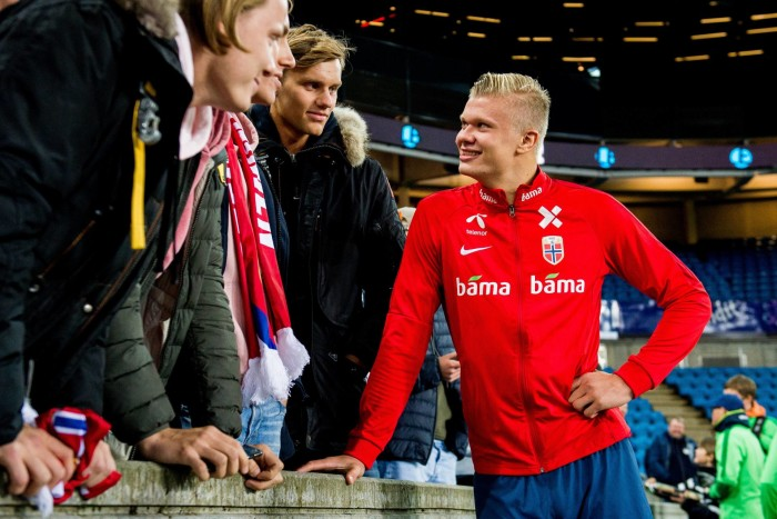 September 5, 2019, Oslo, NORWAY: 190905 Erling Braut Haaland of Norway after the UEFA Euro Qualifier football match between Norway and Malta on September 5, 2019 in Oslo..Photo: Vegard Wivestad Grøtt / BILDBYRÃ…N / kod VG / 170386.bbeng fotboll football fotball soccer uefa euro qualifier em-kvalifisering em-kvalik em-kval landskamp norge norway malta (Credit Image: © Vegard Wivestad GrØTt/Bildbyran via ZUMA Press) FOT.ZUMA/NEWSPIX.PL POLAND ONLY!!! --- Newspix.pl *** Local Caption *** www.newspix.pl mail us: info@newspix.pl call us: 0048 022 23 22 222 --- Polish Picture Agency by Ringier Axel Springer Poland