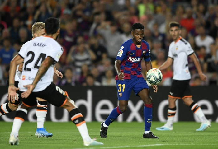September 14, 2019, Barcelona, Catalonia, Spain: Ansu Fati during the match between FC Barcelona and Valencia CF, corresponding to the week 4 of the spanish Liga Santander, played at the Camp Nou Stadium, on 14th September 2019, in Barcelona, Spain. (Credit Image: © Sergio Ros De Mora/NurPhoto via ZUMA Press) FOT.ZUMA/NEWSPIX.PL POLAND ONLY!!! --- Newspix.pl *** Local Caption *** www.newspix.pl mail us: info@newspix.pl call us: 0048 022 23 22 222 --- Polish Picture Agency by Ringier Axel Springer Poland