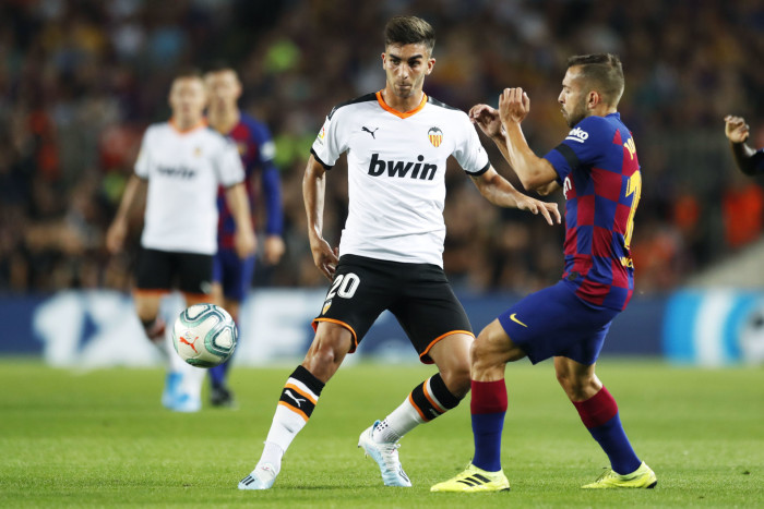 "Ferran Torres (Valencia), Jordi Alba (Barcelona), SEPTEMBER 14, 2019 - Football / Soccer : Spanish ""La Liga Santander"" match between FC Barcelona 5-2 Valencia FC at the Camp Nou stadium in Barcelona, Spain. (Photo by D.Nakashima/AFLO) FOT. AFLO / NEWSPIX.PL POLAND ONLY !!! --- Newspix.pl *** Local Caption *** www.newspix.pl mail us: info@newspix.pl call us: 0048 022 23 22 222 --- Polish Picture Agency by Ringier Axel Springer Poland"
