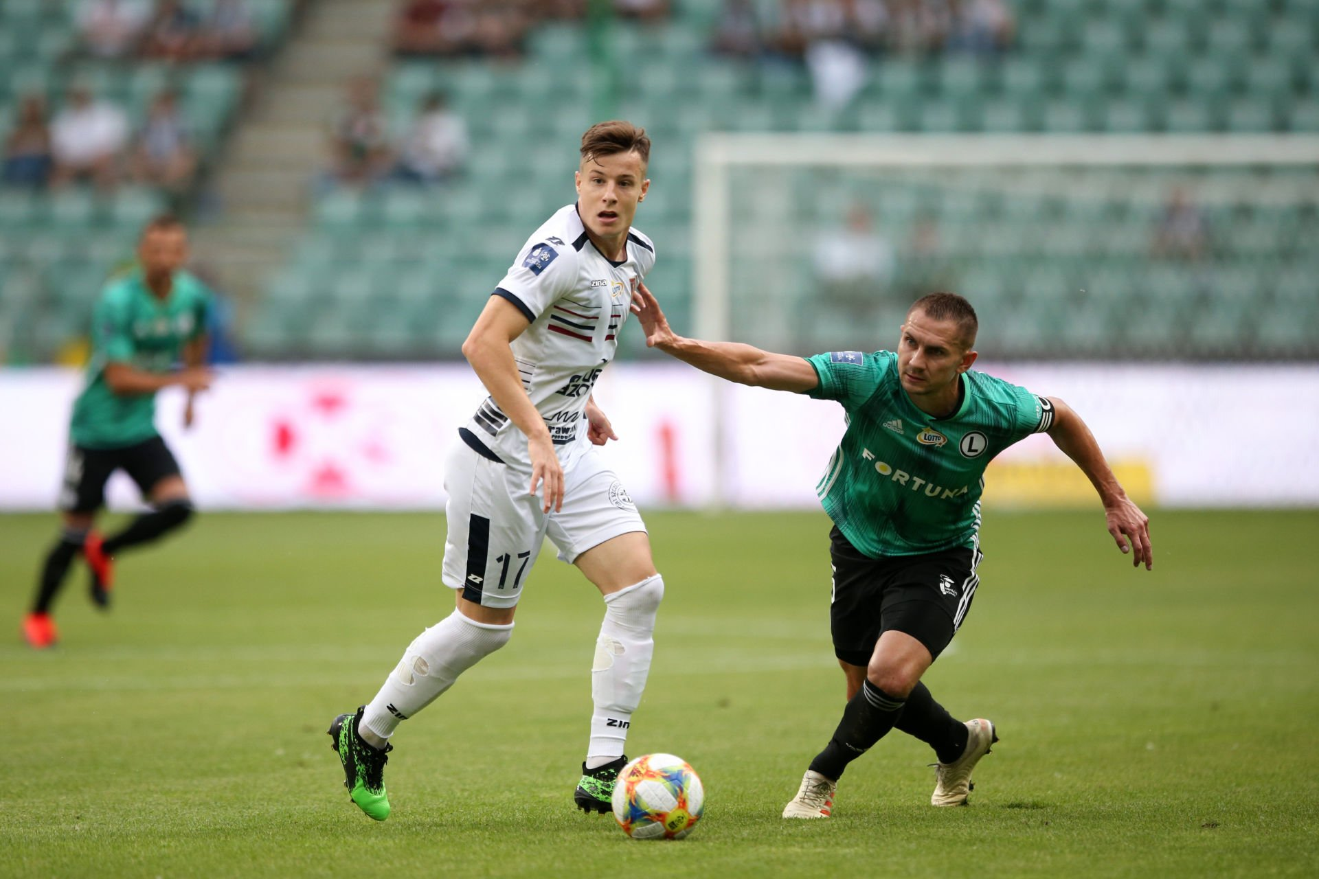 WARSZAWA 21.07.2019 MECZ 1. KOLEJKA PKO EKSTRAKLASA SEZON 2019/20 --- POLISH FOOTBALL TOP LEAGUE MATCH IN WARSAW: LEGIA WARSZAWA - POGON SZCZECIN ZVONIMIR KOZULJ ARTUR JEDRZEJCZYK FOT. PIOTR KUCZA/ 400mm.pl