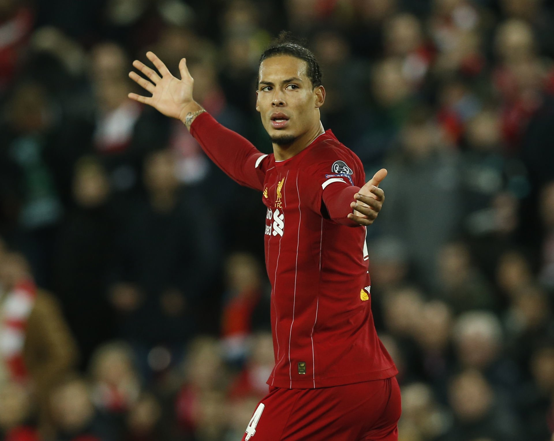November 27, 2019, Liverpool, United Kingdom: Virgil van Dijk of Liverpool during the UEFA Champions League match at Anfield, Liverpool. Picture date: 27th November 2019. Picture credit should read: Andrew Yates/Sportimage(Credit Image: © Andrew Yates/CSM via ZUMA Wire) LIGA MISTRZOW PILKA NOZNA SEZON 2019/2020 FOT. ZUMA/NEWSPIX.PL POLAND ONLY! --- Newspix.pl *** Local Caption *** www.newspix.pl mail us: info@newspix.pl call us: 0048 022 23 22 222 --- Polish Picture Agency by Ringier Axel Springer Poland