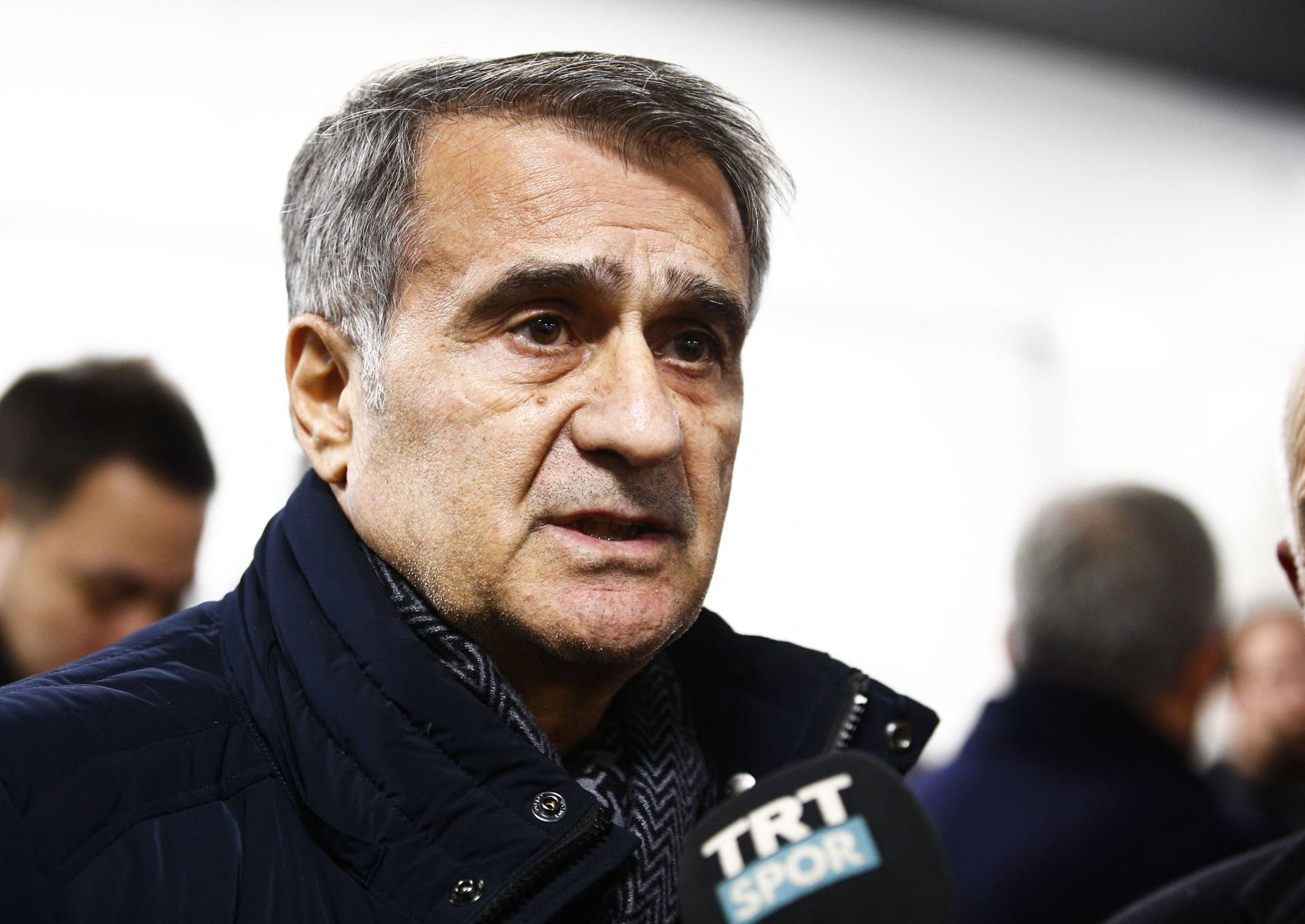 MOENCHENGLADBACH, GERMANY - DECEMBER 12: Head coach Senol Gunes of Turkey National Football Team speaks to media after the UEFA Europa League Group J match between Borussia Moenchengladbach and Medipol Basaksehir at the Borussia Park Stadium in Moenchengladbach, Germany on December 12, 2019. Abdulhamid Hosbas / Anadolu Agency/ABACAPRESS.COM FOT.ABACA/NEWSPIX.PL POLAND ONLY!!! --- Newspix.pl *** Local Caption *** www.newspix.pl mail us: info@newspix.pl call us: 0048 022 23 22 222 --- Polish Picture Agency by Ringier Axel Springer Poland