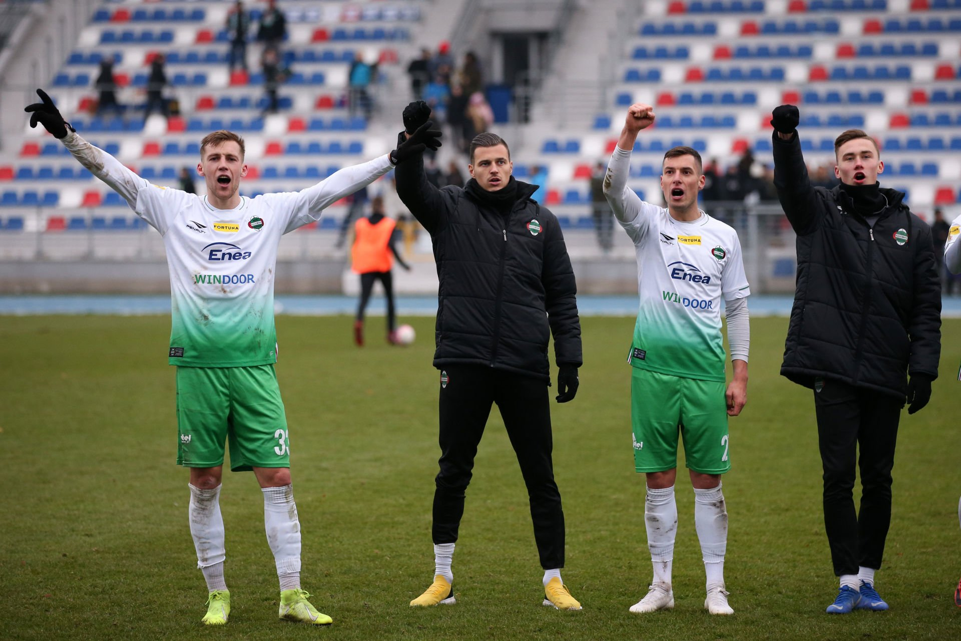 RADOM 01.12.2019 MECZ 20. KOLEJKA FORTUNA I LIGA SEZON 2019/20 --- POLISH FIRST LEAGUE FOOTBALL MATCH: RADOMIAK RADOM - GKS BELCHATOW 2:0 DAWID ABRAMOWICZ MARTIN KLABNIK DAMIAN NOWAK ADRIAN NOWOSADKO FOT. PIOTR KUCZA/ 400mm.pl