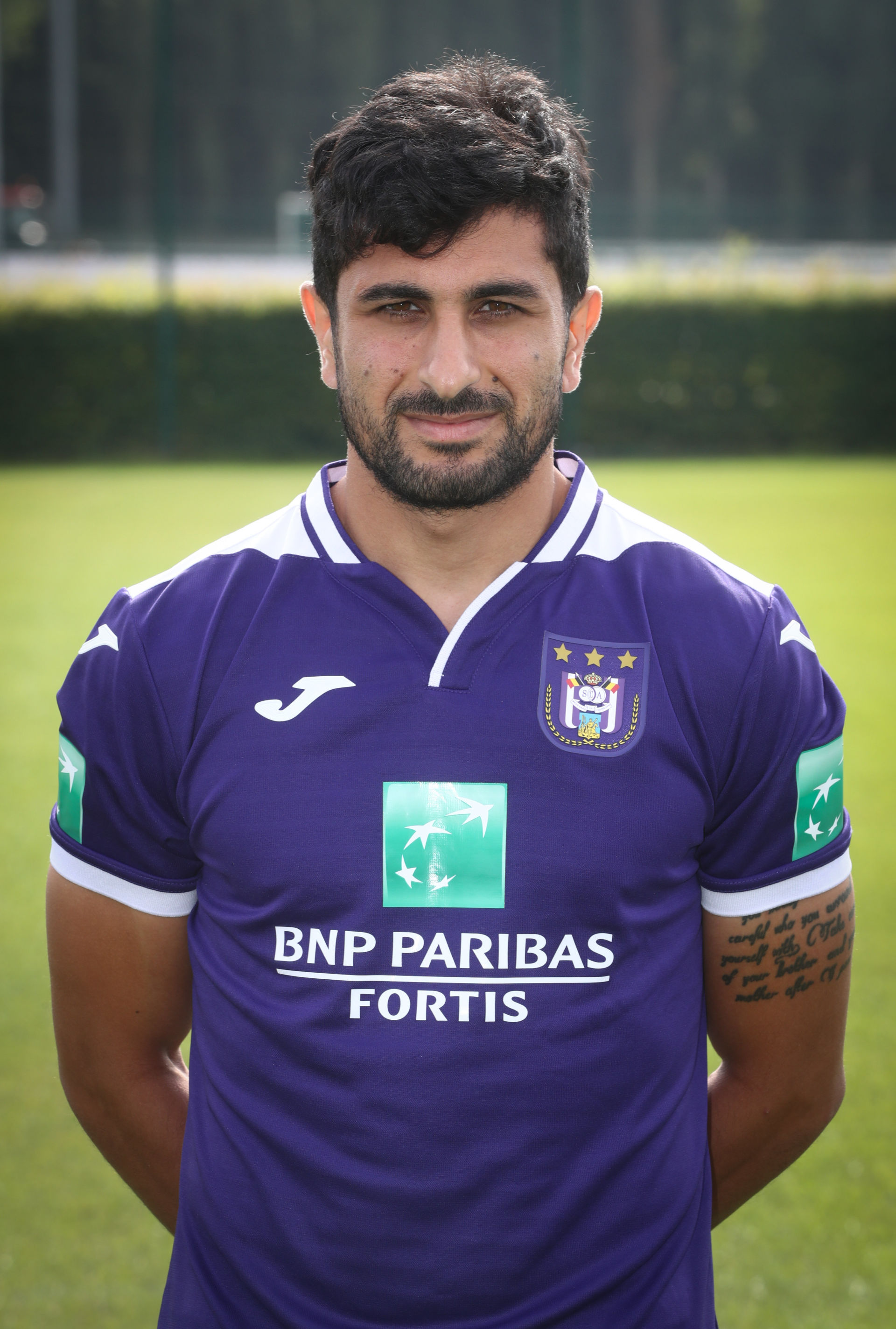 July 18, 2019 - Anderlecht, Belgium - Anderlecht's Kenneth Kenny Saief poses for the photographer, at the 2019-2020 photoshoot of Belgian Jupiler Pro League club Royal Sporting Club Anderlecht, Thursday 18 July 2019 in Anderlecht. (Credit Image: © Virginie Lefour/Belga via ZUMA Press) BELGIA OILKA NOZNA LIGA BELGIJSKA SESJA PILKARZY PILKARZ FOT. ZUMA/NEWSPIX.PL POLAND ONLY! --- Newspix.pl *** Local Caption *** www.newspix.pl mail us: info@newspix.pl call us: 0048 022 23 22 222 --- Polish Picture Agency by Ringier Axel Springer Poland