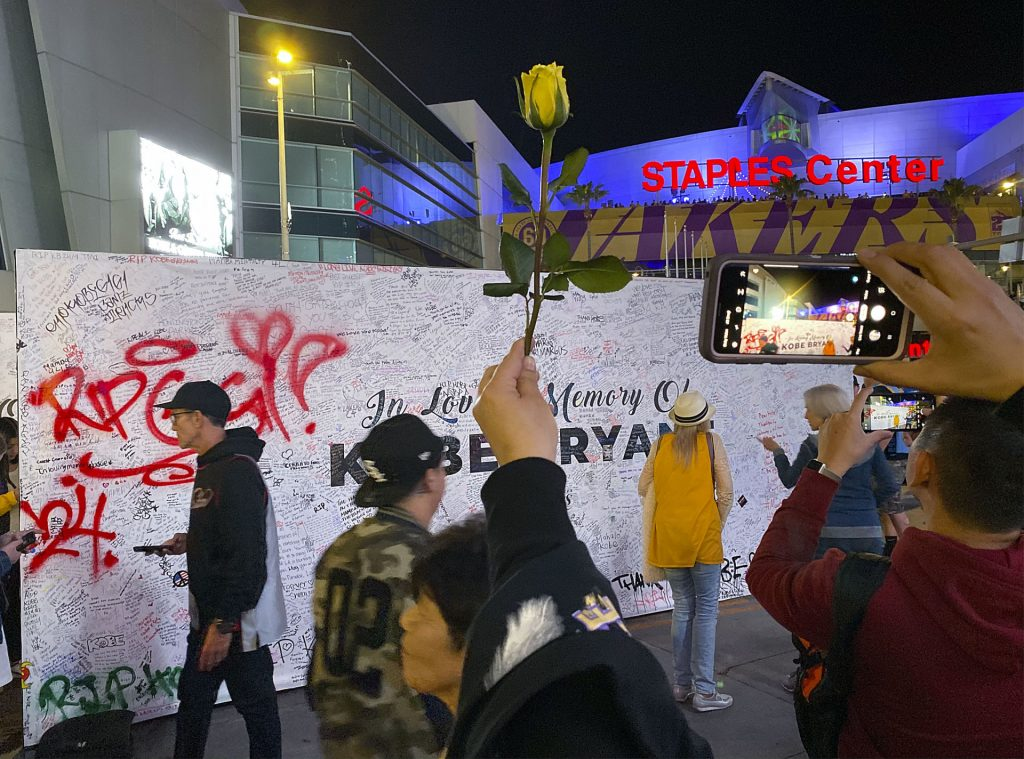 Kobe Memorial outside Staples Center