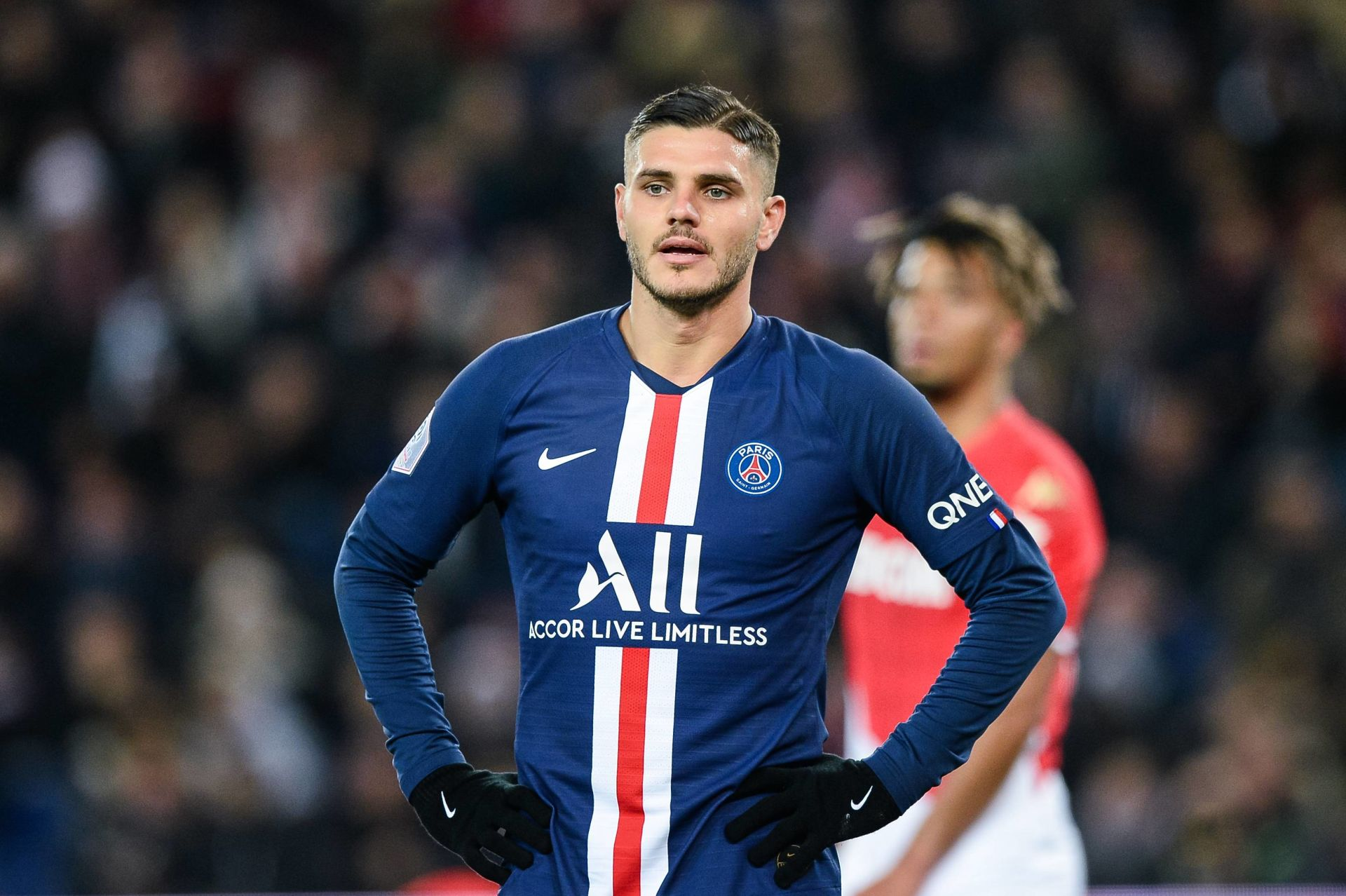 Mauro ICARDI of Paris Saint Germain during the French Ligue 1 Soccer match between Paris Saint-Germain and AS Monaco at Parc des Princes on January 12, 2020 in Paris, France. (Photo by Baptiste Fernandez/Icon Sport) LIGA FRANCUSKA PILKA NOZNA SEZON 2019/2020 FOT. ICON SPORT/NEWSPIX.PL POLAND ONLY! --- Newspix.pl *** Local Caption *** www.newspix.pl mail us: info@newspix.pl call us: 0048 022 23 22 222 --- Polish Picture Agency by Ringier Axel Springer Poland
