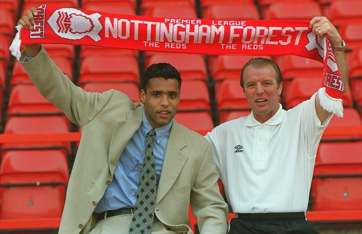 Nottingham Forest new signing, Dutch international Pierre Van Hooijdonk at the City Ground today with Dave Bassett, Manager at Nottingham Forest